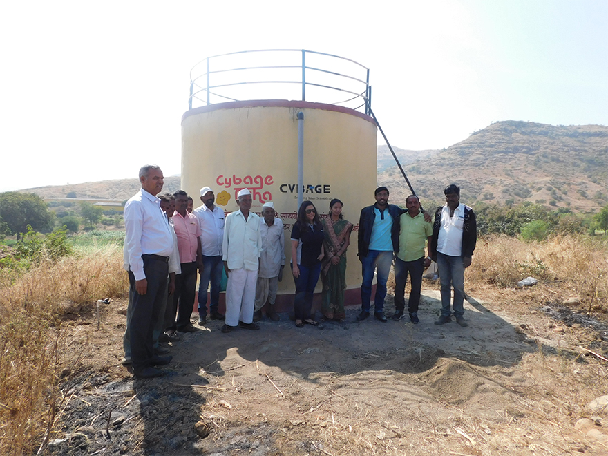 Inauguration of Water Tanks at Pingori
