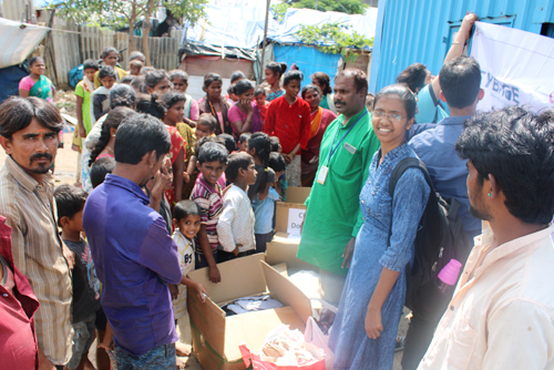 2019-11-02  Cloth distribution drive for residents of the community